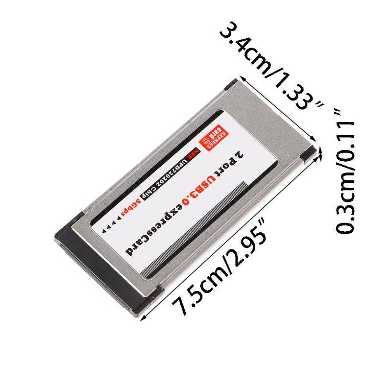 Pci-E Pci Express для Usb 3,0 2 порта 34 мм Адаптер конвертера карт Expresscard