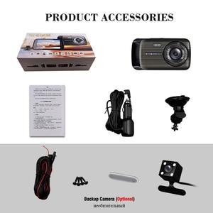 Image 5 - Автомобильный видеорегистратор 2 s 4,0 дюйма, HD цифровой видеорегистратор, Автомобильный регистратор с двойным объективом и камерой заднего вида, видеокамера