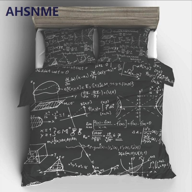 AHSNME набор постельного белья с математической формулой и принтом высокого разрешения, покрывало для России, Австралии, европейского и амери