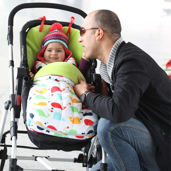 0-12Month Baby Travel Sleeping Bag poussette Stroller Envelope Warm Carriers Pram Footmuff Car Seat