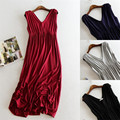 Summer Maternity Dresses V-Neck Evening Dress Clothes For Pregnant  Women Dress Pregnancy Clothes Long Dresses For Woman New