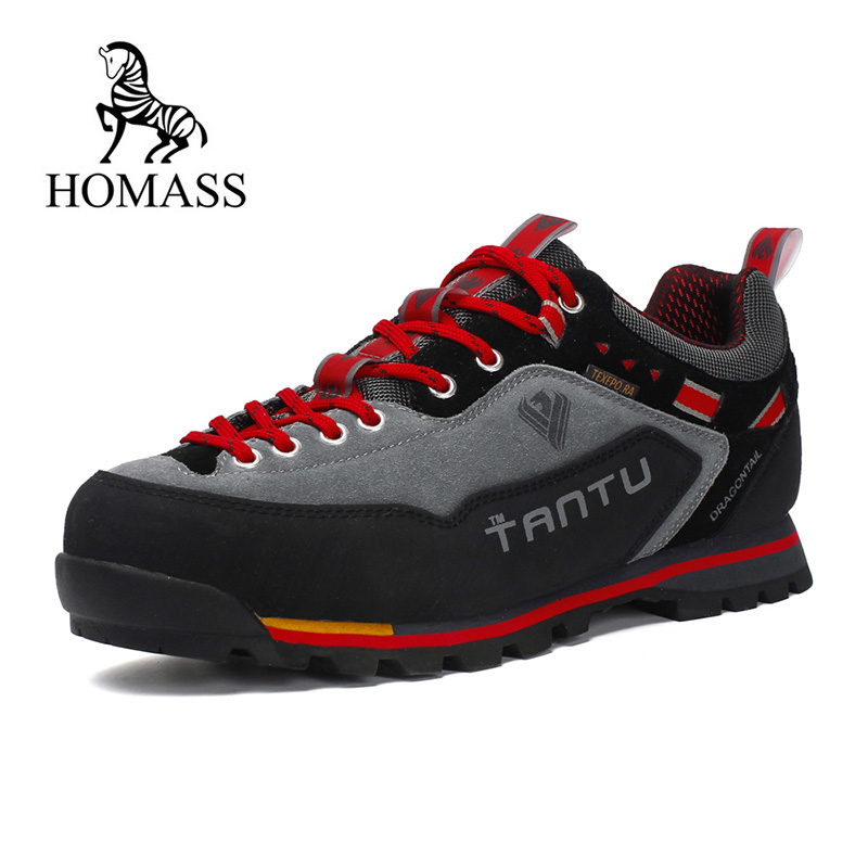 men's hiking shoes 2019 brand Waterproof Non-slip Hiking boots man Sports climbing trekking Shoes Leather tactical boots hombre