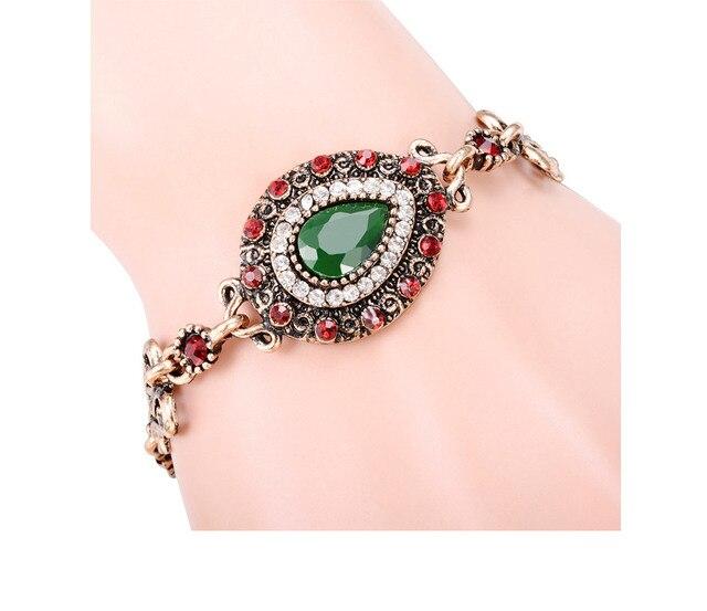 Богемные женские Роскошные браслеты и мозаичный Розовый Зеленый