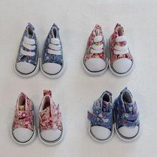 5cm Canvas Shoes For BJD Doll Fashion Mini for Russian DIY handmade doll Accessories