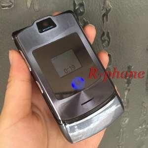 Motorola V3i RAZR Dg-Version GSM Refurbished Keyboard Cell-Phone-English-Russian Mobile