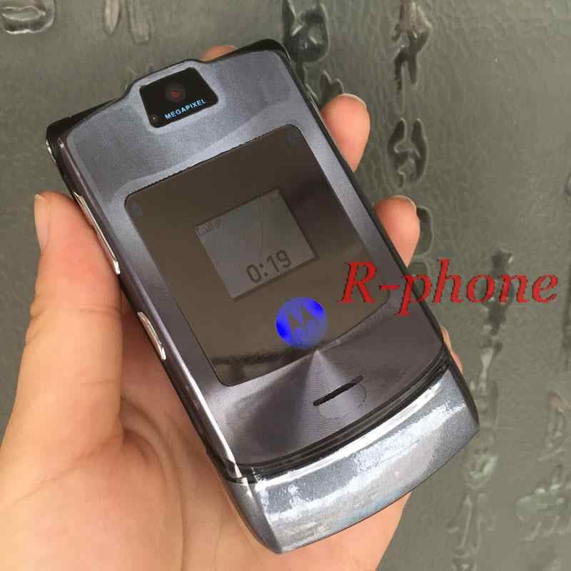 Refurbished Unlocked Motorola RAZR V3i DG Version Mobile Cell Phone English Russian Arabid Keyboard