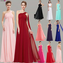 Evening Dresses Ever Pretty EP09816 One Shoulder Ruffles Padded Special Occasion Weddings Events Long 2020 New Evening Dress cheap Ever-Pretty One-Shoulder Sweep Train Ankle-Length Polyester A-Line Formal Evening Criss-Cross Sleeveless HE09816 Chiffon