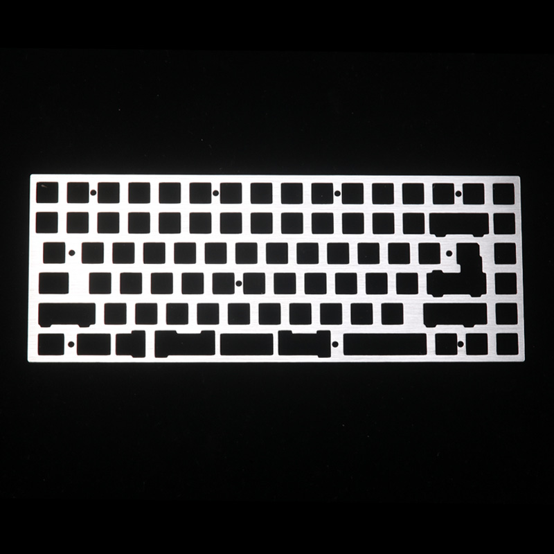 Kbd75 Alu Plate  Support Split Spacebar Compatible With Kbd75v1 Kbd75v2