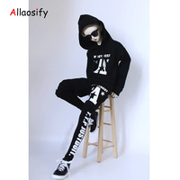 Allaosify Clothes1 / 6 1 / 4 1 / 3 bjd EVA garment fake two piece printing set hoodie + casual printing baggy pants can be sold
