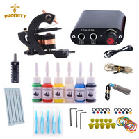Tattoo Machine Kit One Tattoo Gun Beginner Tattoo Supplies Professional Tattoo Kit Complete 6 Inks With