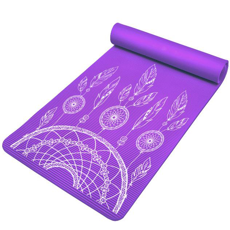 10mm Thick 185 80cm Nbr Pilates Yoga Mat Dream Catching