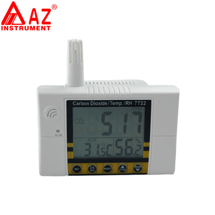 Air Quality Monitor Temperature Meter Humidity Meter Carbon Dioxide Tester CO2 Gas Detector Gas Analyzer CO2 Meter 2-IN-1 AZ7722