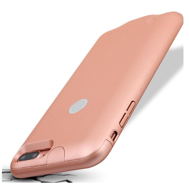Цена за Роскошные крышка Батарейного отсека Чехол Для iPhone 7 7 Plus ABS + PC Ультра Тонкий задняя Крышка Внешняя Батарея Зарядки Power Bank Чехол для 7 7 Плюс