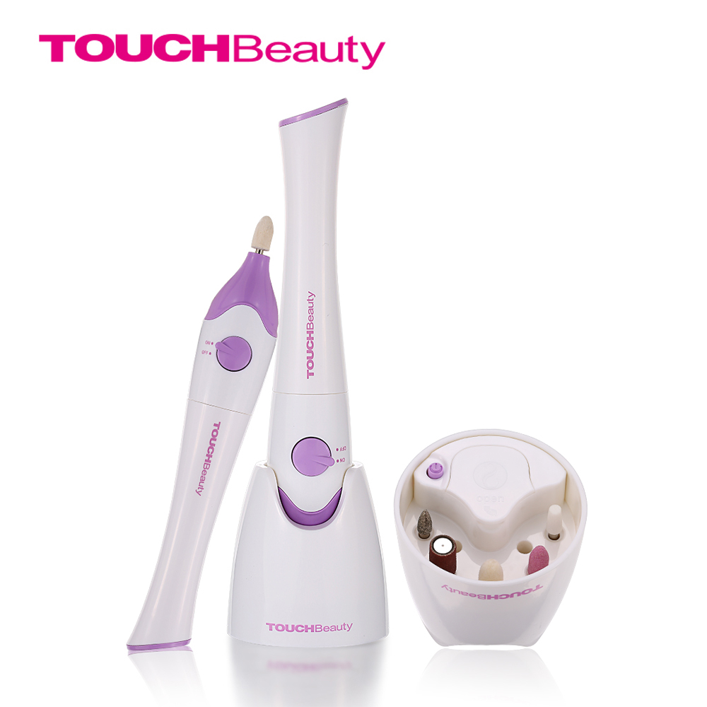 TOUCHBeauty Electric Nail File Nail Polish Dryer UV Lamp with 5pcs Drills in Storage Base TB