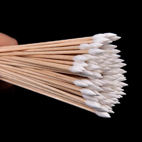 100pcs/lot Useful 6 Inch Gun Cleaning Cotton Swabs,Large Tapered Swabs Gun Clean Brush