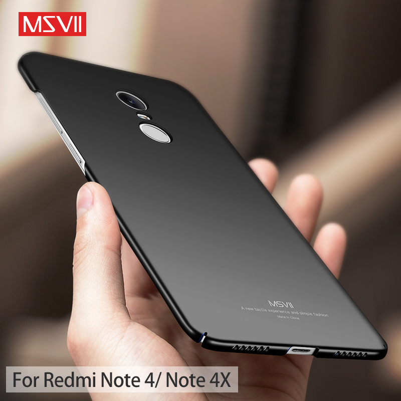 detailed look a8c43 87845 US $3.74 25% OFF|Msvii Case for Xiaomi Redmi Note 4 Case for Redmi Note 4X  Pro Cover Luxury Thin Full Protection for Redmi Note 4 Hard Back Cover-in  ...