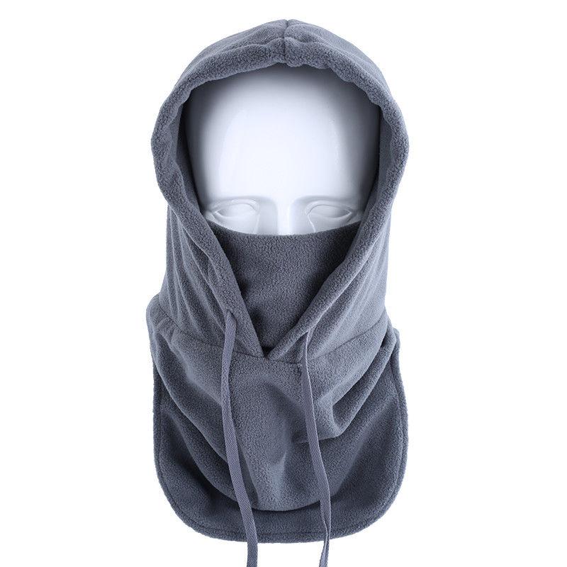 2020 chapéu de pelúcia de lã preta ajustável chapéu de balaclava térmica à prova de vento