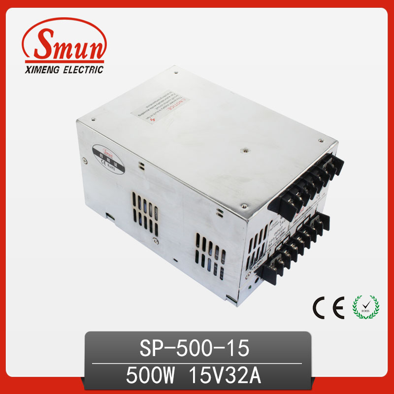 500W 15VWith PFC Single Output Switching Power Supply With CE ROHS From China Supplier Industrial And Led Used 125a 220v 2p e industrial male plug 3pins with ce rohs 1 year warranty