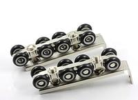 8 wheels pulley, hardware Slide Doors pulley, Sliding doors hanging rail wheel,for 1 door/ 30 * 30 hanging rail HM51