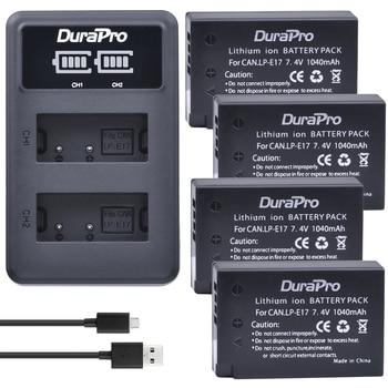 4 pc キヤノン LP-E17 LPE17 LP E17 充電式バッテリー + キヤノン EOS 反乱 T6i 750D LED デュアル充電器 t6s 760D M3 800D 8000D X8i