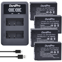 4pc for Canon LP E17 LPE17 LP E17 Rechargeable Battery+ LED Dual Charger for Canon EOS Rebel T6i 750D T6s 760D M3 800D 8000D X8i
