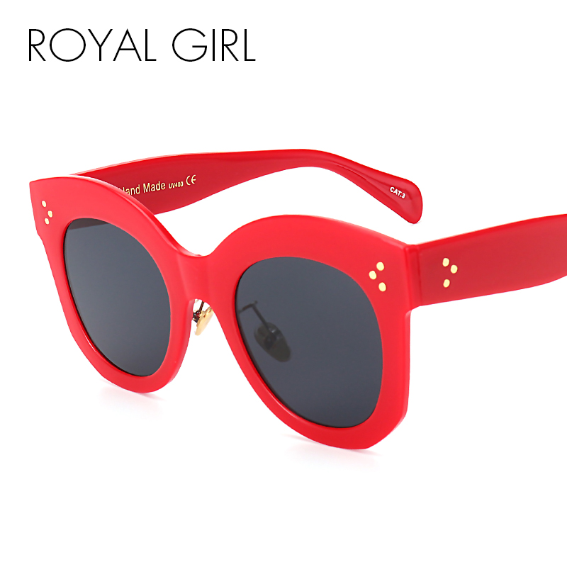 ROYAL GIRL Women Sunglasses Oval Female Men Acetate Frame Vintage Glasses Fashion Brand Designer Sun Glasses UV400 ss525