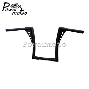 "Image 2 - Manillar elevado tipo manillar personalizado para motocicleta, 12 "", Rise 1 1/4"", color negro, APE Hanger manillar, barras anchas, manillar para Harley Sportster Touring Dyna"