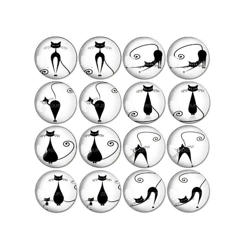 ZEROUP 16 шт. круглый стекло кабошон кошка и птица фотографии смешанный узор Fit База серьги установка для ювелирных изделий Flatback TP-034-ER-2