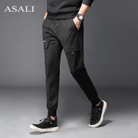 ASALI Autumn New Men Sportswear Pants Casual Elastic Waist GYMS Fitness Workout Mens Harem Trousers skinny Sweatpants Jogger