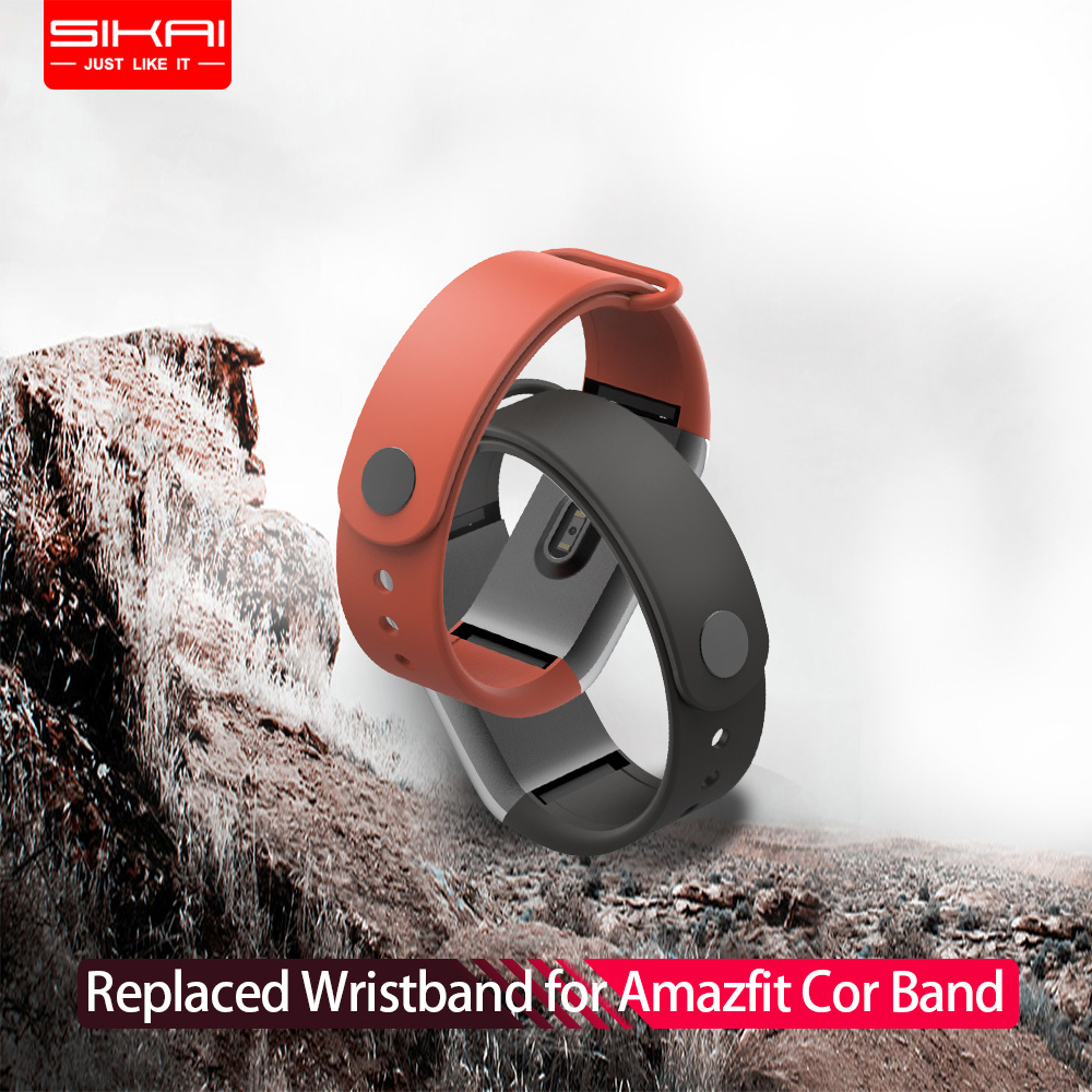 SIKAI Handgelenk Gurt für Amazfit Cor Band Ersetzt Cor Band für Xiaomi Huami Midong Amazfit Cor Band TPE material Armband