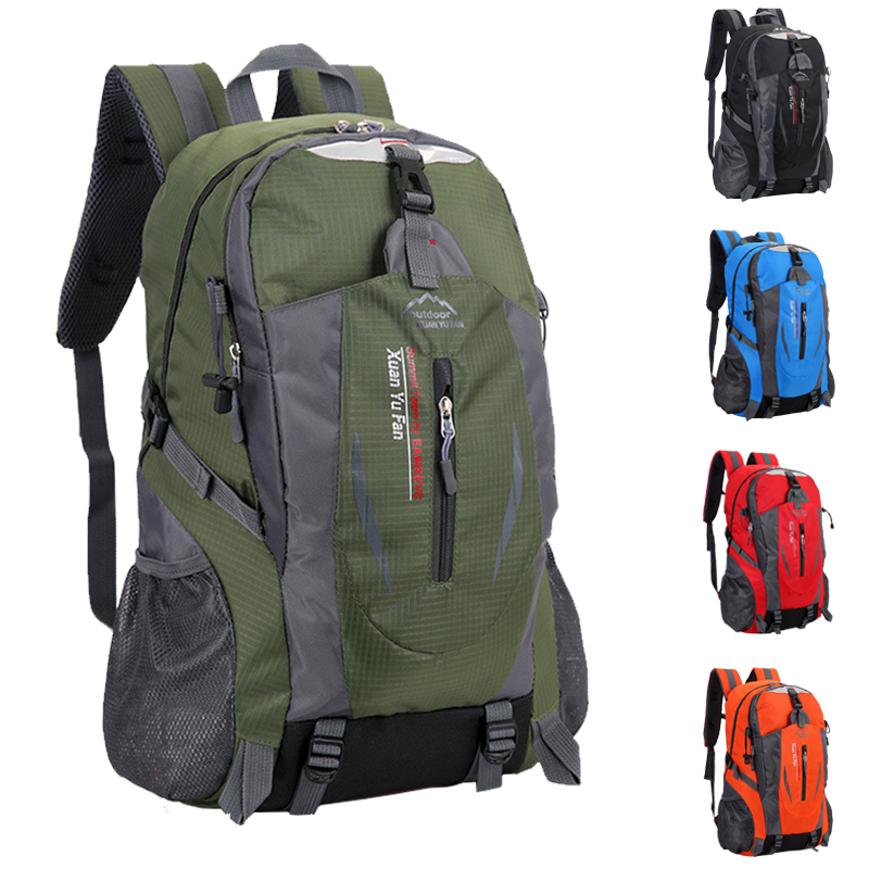 40 L New Men Nylon Travel Backpack Large Capacity Camping Casual Bagpack 15-inch Laptop Backpack Women Outdoor Hiking Bag(China)
