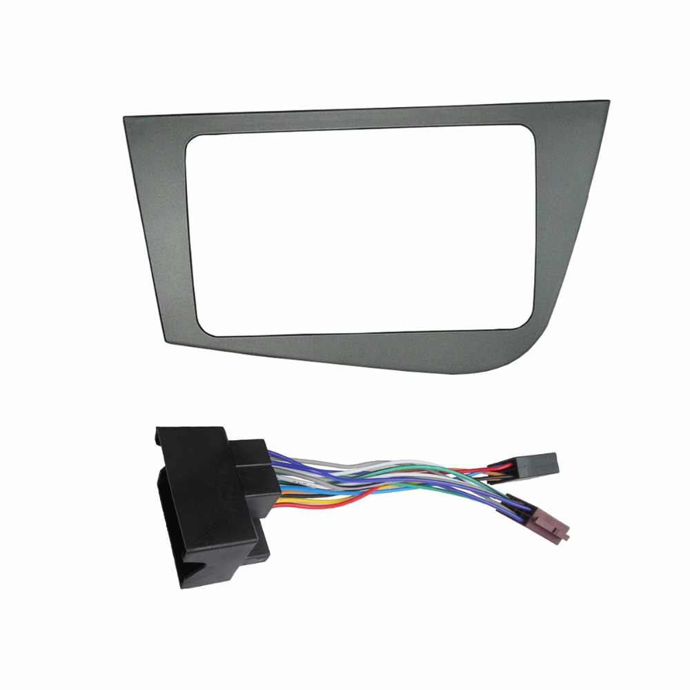 Car Radio Fascia Stereo Panel for Seat Leon Left Hand Drive Head Unit Plate Frame DVD GPS Dash Mounting Installation Trim Kit