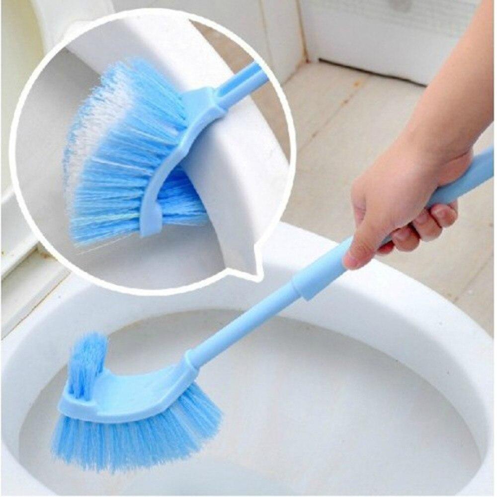 plastic long handle bathroom toilet bowl scrub double side cleaning brushchina mainland - Toilet Bowl Brush