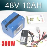 EU US No Tax 48V 10AH Battery 1000W 48V Electric Bike Battery 48V Lithium Battery With