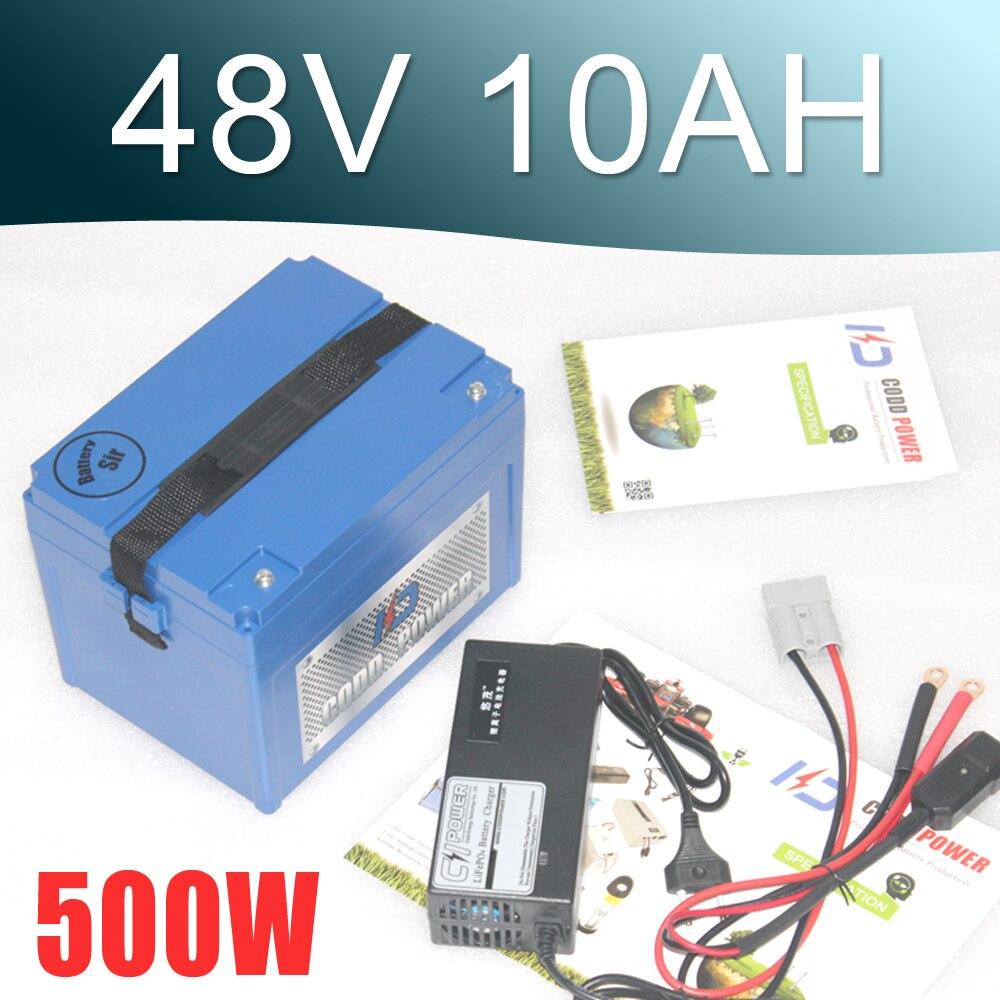 Ue US pas de taxe 48 V 10AH batterie 1000 W 48 V batterie de vélo électrique 48 V batterie au Lithium avec boîtier ABS chargeur 54.6 V 2A