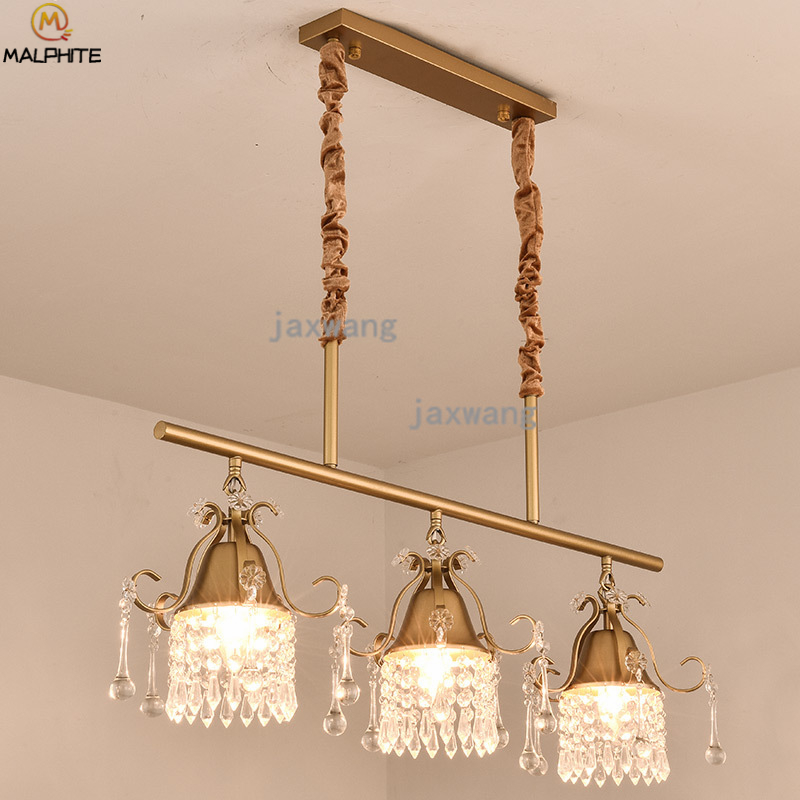 Nordic Pendant Lights Lustre Crystal Hanging Pendant Lamp Living Room Bedroom Decor Lighting Hanglamp Kitchen Light Luminaire in Pendant Lights from Lights Lighting