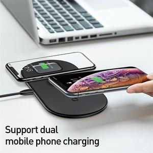 Image 4 - Baseus 3 ב 1 אלחוטי מטען עבור iPhone 12 Samsung מהיר טעינה אלחוטי Pad עבור אפל שעון 5 4 3 עבור Airpods Chargepad