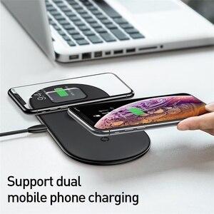 Image 4 - Baseus 3 in 1 Drahtlose Ladegerät Für iPhone 12 Samsung Schnelle Drahtlose Aufladen Pad Für Apple Uhr 5 4 3 für Airpods Chargepad