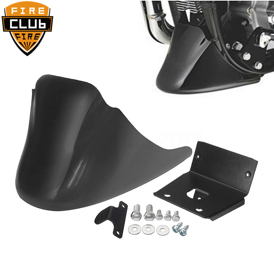 Motorcycle  Black Front Bottom Spoiler Mudguard Air Dam Chin Fairing for Harley  XL Sportster 883 1200Motorcycle  Black Front Bottom Spoiler Mudguard Air Dam Chin Fairing for Harley  XL Sportster 883 1200