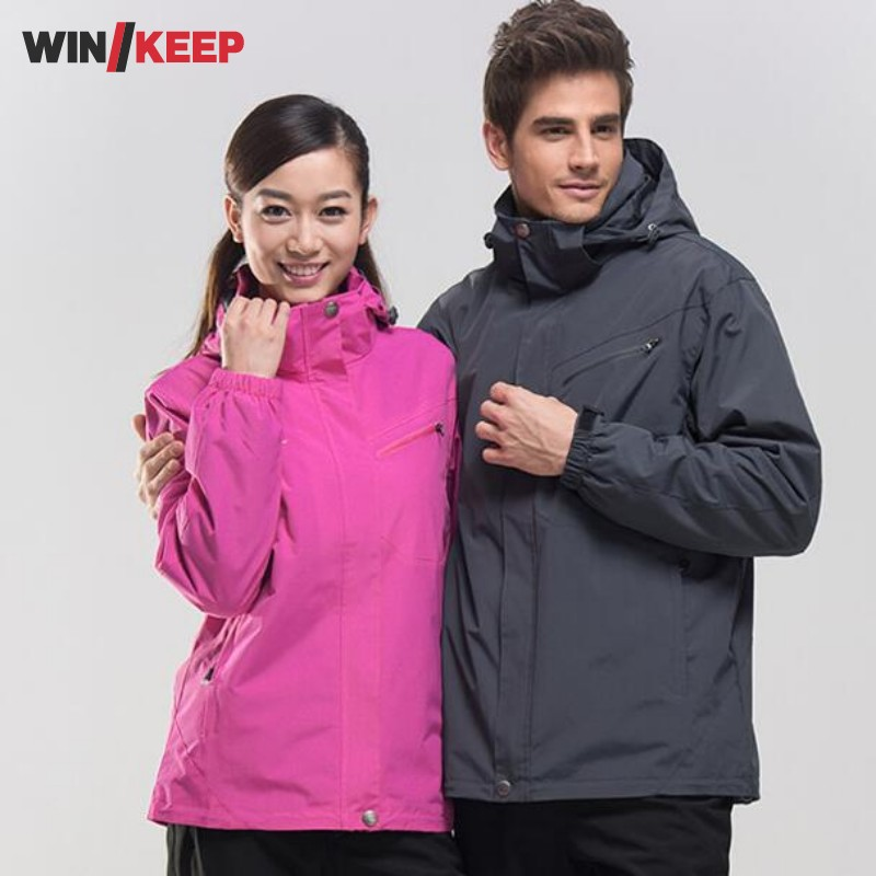 Men Women Winter Waterproof Mountain Clothes Climbing Hiking Overcoats Thicken Fleece Lined Warm Outwear Jacket Coat For Lovers men women winter waterproof mountain clothes climbing hiking overcoats thicken fleece lined warm outwear jacket coat for lovers