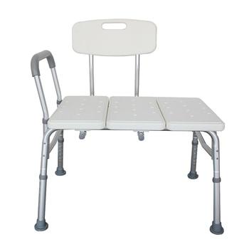 3 Coup Portable Chaise De Douche Antidérapant Sécurité Handicap Personnes âgées Banc Dos Plaques De Moulage En Alliage D'aluminium Personnes âgées Chaise De Bain Blanc