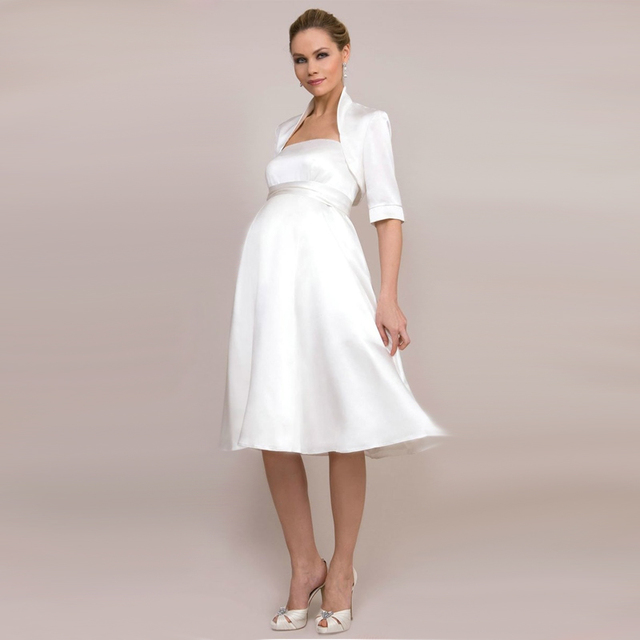beach casual short western wedding dresses for pregnant brides-in ...
