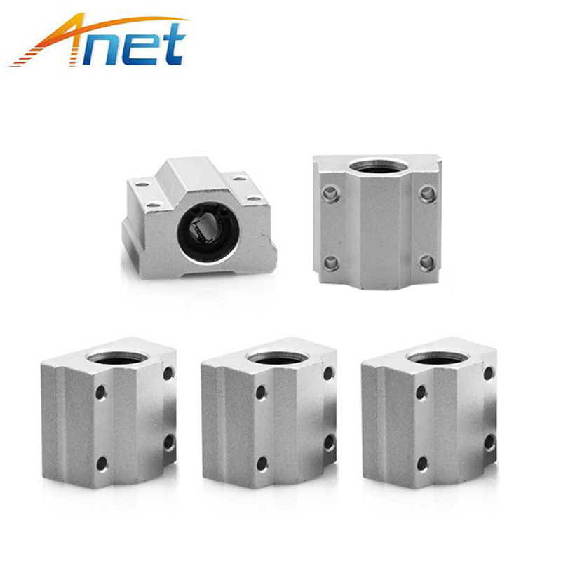 <font><b>4PCS</b></font> Anet <font><b>SC8UU</b></font> SCS8UU 8mm Motion Ball Bearing slider Block Bushing Linear Shaft 3D Printer Part image