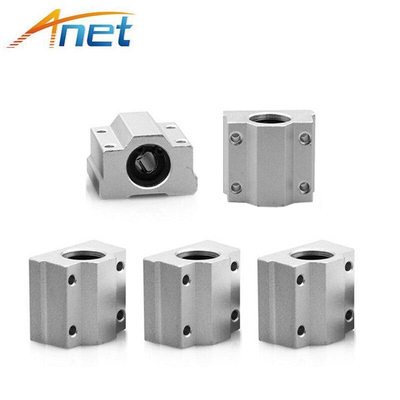4PCS Anet SC8UU SCS8UU 8mm Motion Ball Bearing slider Block Bushing Linear Shaft 3D Printer Part
