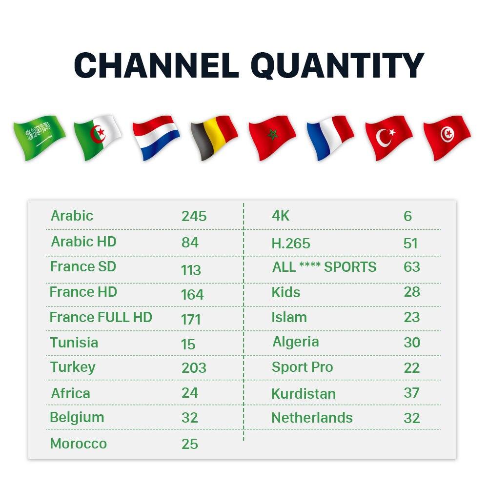 Image 3 - IP tv Франция арабский Турция 1 месяц IP tv Free HK1 Plus ТВ бокс Kurdistan тюнер для просмотра телеканалов Нидерландов подписка IP tv ислам Бельгия IP tv 4 K-in ТВ-приставки from Бытовая электроника