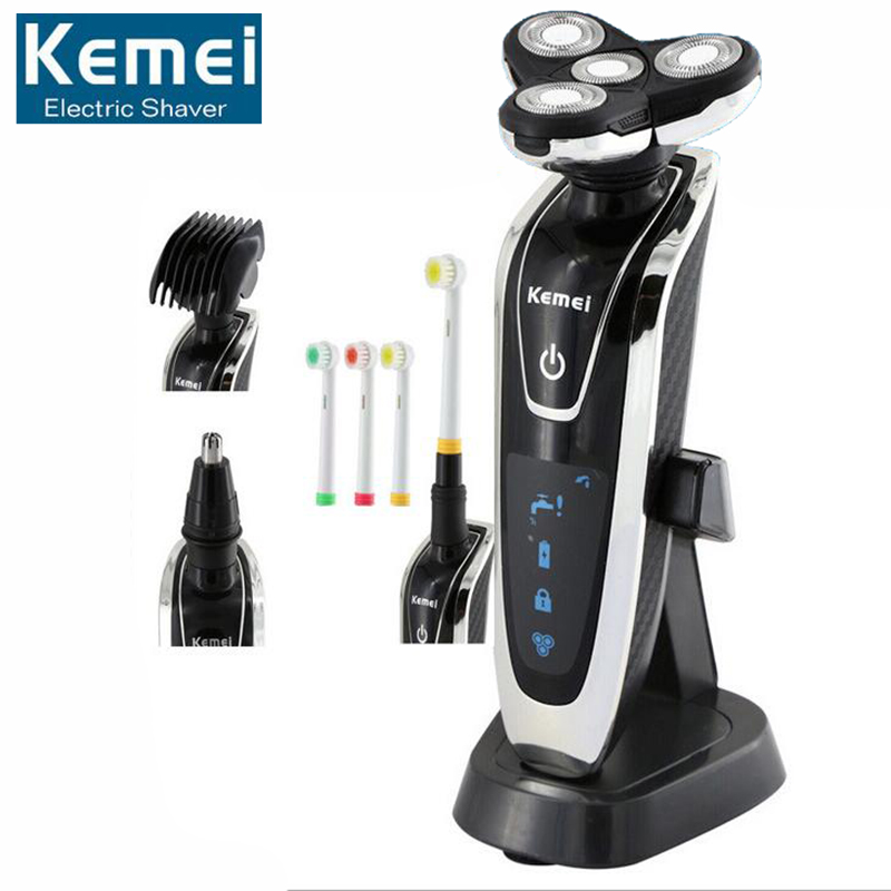 Original KM-5181 4D Electric Shaver Men Shaving Machine Nose Beard Trimmer Razor Barbeador Washable Rasoir Electrique kemei km 5181 4d electric shaver men shaving machine nose beard trimmer razor barbeador washable rechargeable rasoir electrique