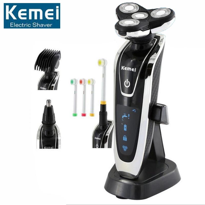 Original KM-5181 4D Electric Shaver Men Shaving