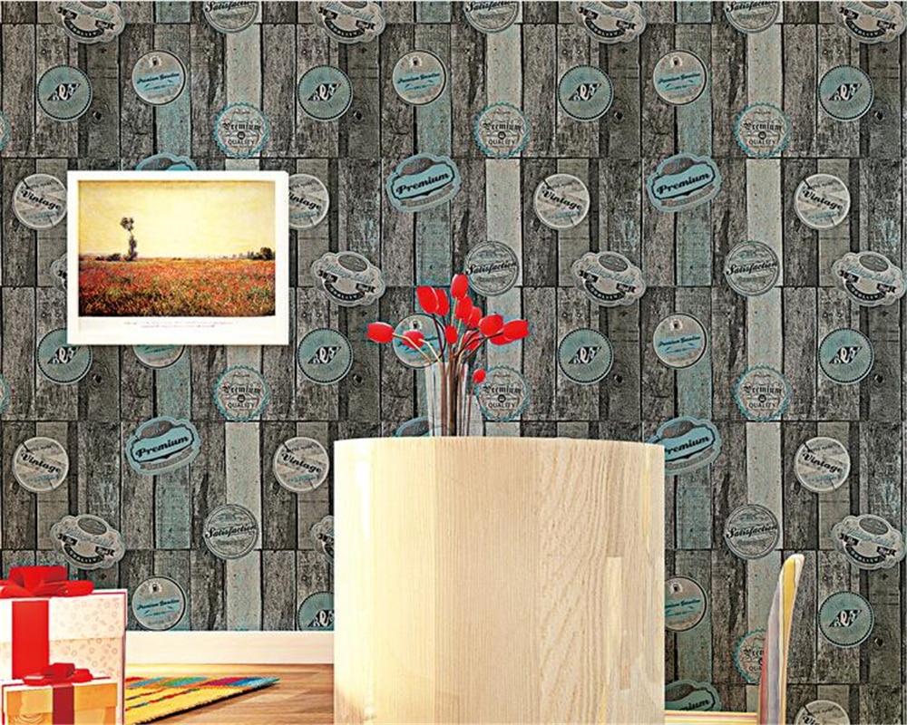 Toko Online Beibehang Amerika Kayu 3d Wallpaper Retro Cafe