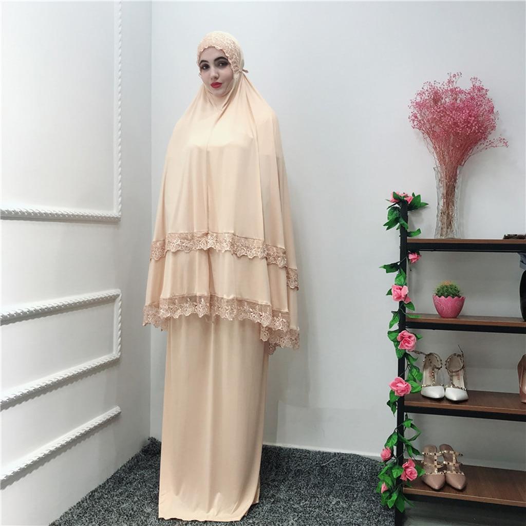 Caftan Abaya dubaï arabe Islam turquie longue Hijab robe musulmane grande échelle mosquée dentelle Robes Dubai Cardigan Ramadan 4.29