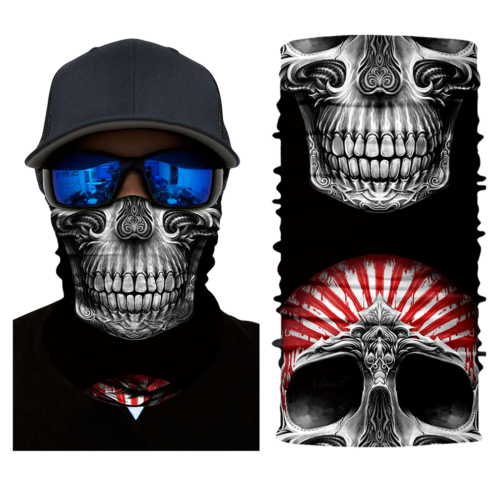 Motorbike Cool Skull Face Mask Scarf Ski Snowboard Bike Motorcycle Face Protective Helmet Neck Warm Outdoor Cycling Mask